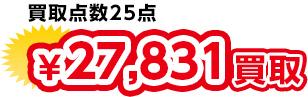 買取点数25点 ¥27,831買取