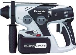 パナソニック ハンマードリル 充電式 28.8V ブラック EZ7880LP2S-B