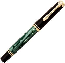 ペリカン 万年筆 F 細字 緑縞 スーベレーン M400